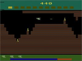 In game image of Super Cobra on the Atari 2600.