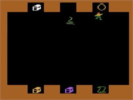 In game image of Sword of Saros on the Atari 2600.