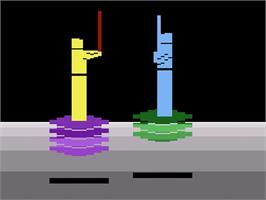 In game image of Swordfight on the Atari 2600.