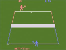 In game image of Tennis on the Atari 2600.
