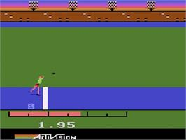 In game image of The Activision Decathlon on the Atari 2600.