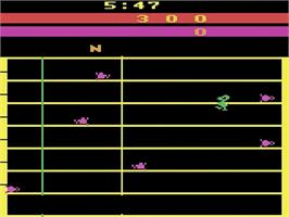 In game image of The Challenge of NEXAR on the Atari 2600.