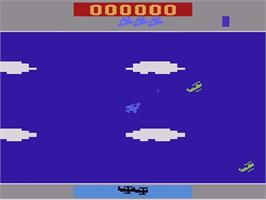 In game image of Time Pilot on the Atari 2600.