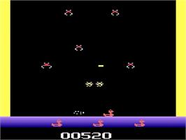 In game image of Tron: Deadly Discs on the Atari 2600.