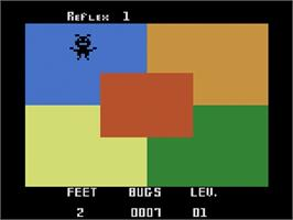 In game image of Video Reflex on the Atari 2600.