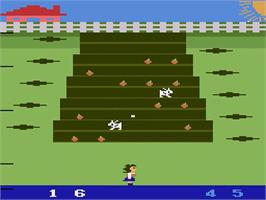In game image of Wabbit on the Atari 2600.
