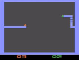 In game image of Warring Worms on the Atari 2600.