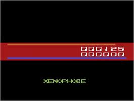 In game image of Xenophobe on the Atari 2600.