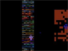 In game image of Yars' Revenge on the Atari 2600.