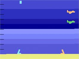 Title screen of Air-Sea Battle on the Atari 2600.