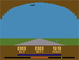 Title screen of Air Raiders on the Atari 2600.