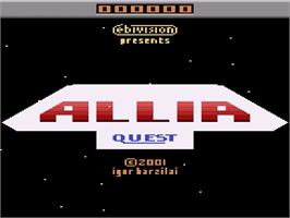 Title screen of Allia Quest on the Atari 2600.