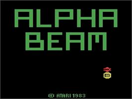 Title screen of Alpha Beam with Ernie on the Atari 2600.