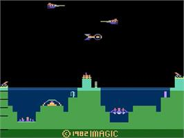 Title screen of Atlantis on the Atari 2600.
