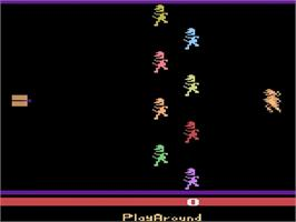 Title screen of Bachelorette Party/Burning Desire on the Atari 2600.