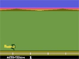 Title screen of Barnstorming on the Atari 2600.