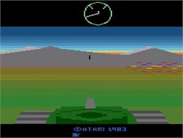 Title screen of Battlezone on the Atari 2600.