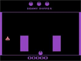 Title screen of Beany Bopper on the Atari 2600.