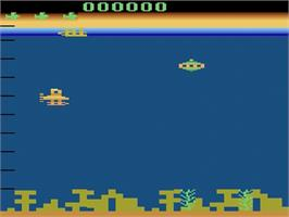 Title screen of Bermuda Triangle on the Atari 2600.