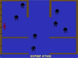 Title screen of Berzerk on the Atari 2600.