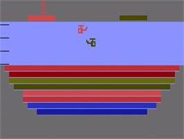 Title screen of Canyon Bomber on the Atari 2600.