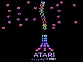Title screen of Centipede on the Atari 2600.
