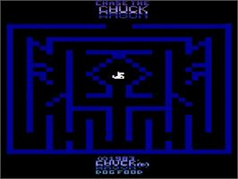 Title screen of Chase the Chuck Wagon on the Atari 2600.