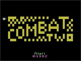Title screen of Combat Two on the Atari 2600.