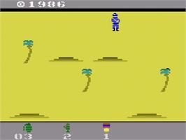 Title screen of Commando on the Atari 2600.