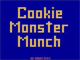 Title screen of Cookie Monster Munch on the Atari 2600.
