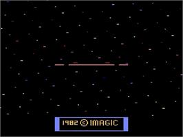 Title screen of Cosmic Ark on the Atari 2600.