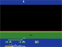 Title screen of Cosmic Commuter on the Atari 2600.