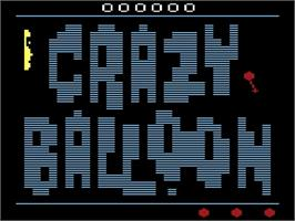 Title screen of Crazy Balloon on the Atari 2600.