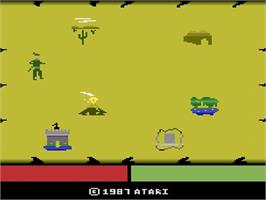 Title screen of Crossbow on the Atari 2600.