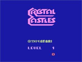 Title screen of Crystal Castles on the Atari 2600.