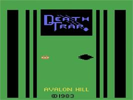 Title screen of Death Trap on the Atari 2600.