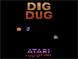 Title screen of Dig Dug on the Atari 2600.