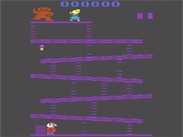 Title screen of Donkey Kong on the Atari 2600.