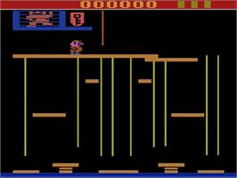 Title screen of Donkey Kong Junior on the Atari 2600.
