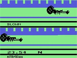 Title screen of Dragster on the Atari 2600.
