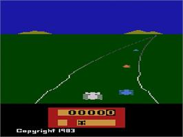Title screen of Enduro on the Atari 2600.