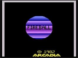 Title screen of Fireball on the Atari 2600.