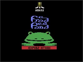 Title screen of Frog Bog on the Atari 2600.