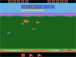 Title screen of Funky Fish on the Atari 2600.