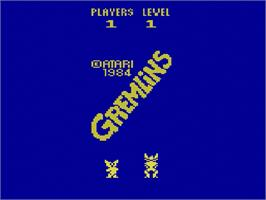 Title screen of Gremlins on the Atari 2600.
