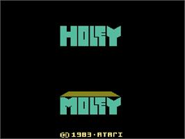 Title screen of Holey Moley on the Atari 2600.