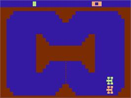 Title screen of Indy 500 on the Atari 2600.