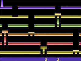 Title screen of Infiltrate on the Atari 2600.