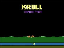 Title screen of Krull on the Atari 2600.