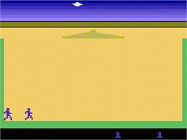 Title screen of Lost Luggage on the Atari 2600.